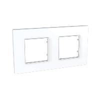 Рамка двухместная Белый Schneider Electric Unica Quadro (mgu2.704.18)