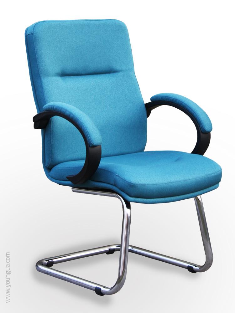 Компьютерный стул с эргономичной спинкой -Дакота К, в ткани.