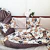 Бортики+ постельное + кокон+ конверт-плед + ортопедическая подушка