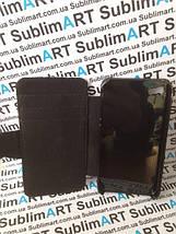 Чехол-книжка для 2D сублимации кожанный на Iphone 5/5S черный, фото 2