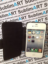 Чехол-книжка для 2D сублимации кожанный на Iphone 5/5S черный, фото 3