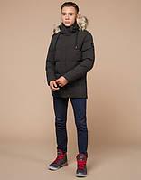 Мужская зимняя куртка молодежная  | кофе