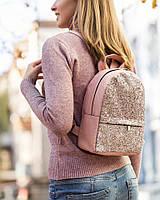 Рюкзак Fancy mini светло розовый флай с розовым глиттером, фото 1