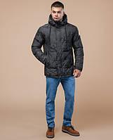 Зимняя молодежная мужская куртка пуховик   темно-серый