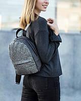 Рюкзак Fancy mini черный флай с серым глиттером, фото 1
