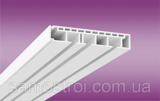 Пластиковый потолочный карниз ОМ3 2м белый