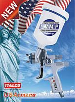 Краскопульт пневматический LVMP верх.пласт.бачок 600мл, форсунка-1,3мм Italco H-5000-Digital-1.3LM, фото 3