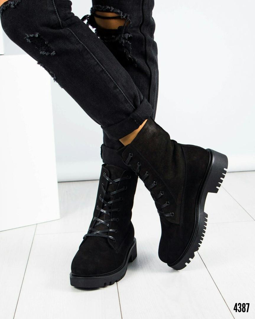 83cbbe09 Внутри шерсть, фото 5 Женские зимние высокие ботинки на шнуровке.Натуральный  нубук. Внутри шерсть, фото 6