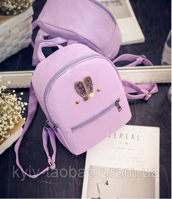 98c624dde8b4 Мини рюкзак из эко кожи с ушками из стразов розовый - China Style посредник  Taobao в