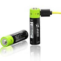 АА пальчиковый ZNTER Li-po аккумулятор 1250mAh с функцией зарядки Micro USB, 1.5В