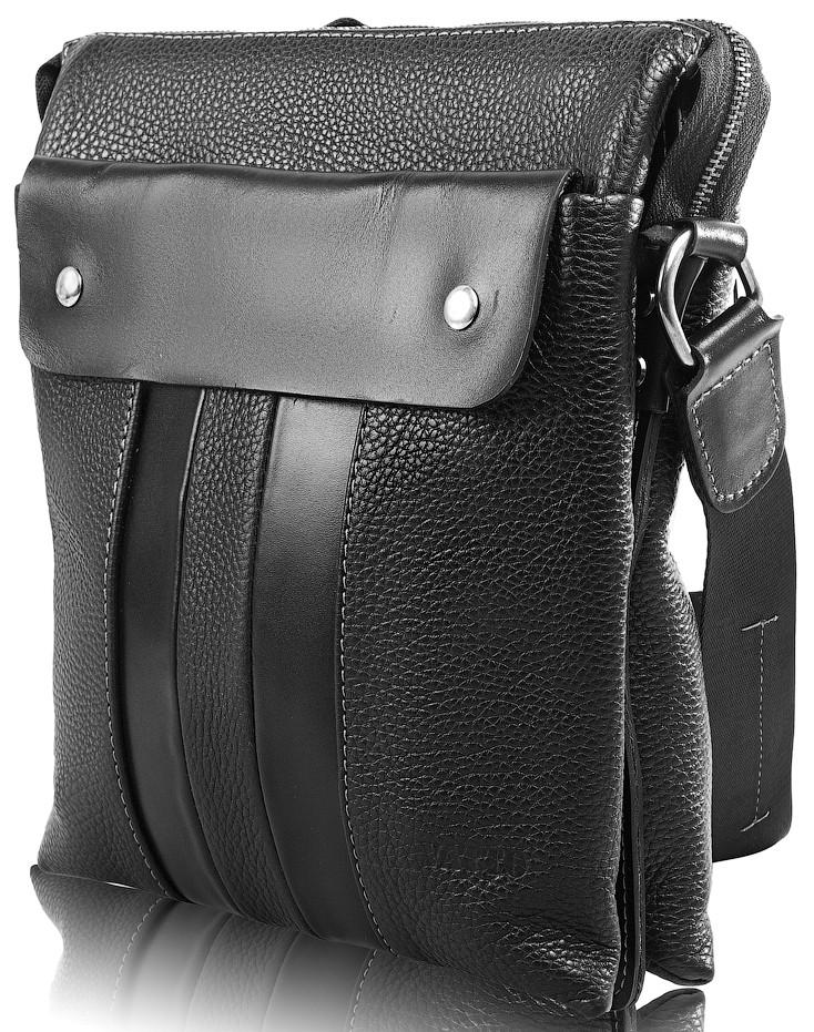 9d089fb90017 Мужская повседневная сумка VATTO DSMK-80F18 из кожи, чёрная — только ...