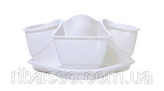 Горшок для растений COUBI белый, 3 л