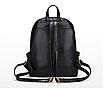 Рюкзак женский кожзам Kelli Черный вертикальный карман, фото 4