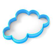 Вырубка для пряников Облачко 8*5 см (3D)