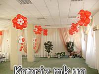 Цветы двойные из шаров для внутреннего оформления