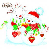 Салфетка La Fleur 33 х 33 cм 20 шт Снежная любовь