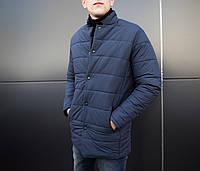 """Мужская зимняя куртка Pobedov """"Кorol' vechera"""" синяя"""
