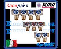 Icma Коллектор с отсекающими кранами 3/4*1/2 3 выхода