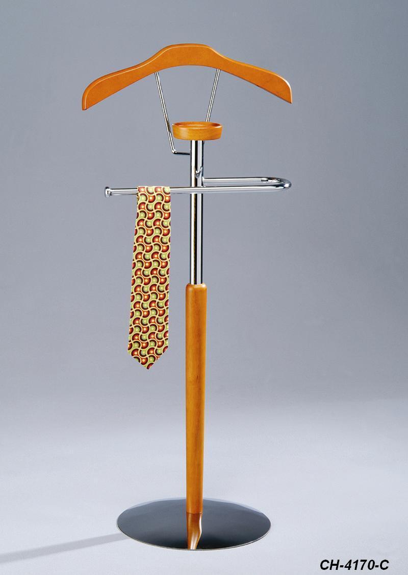 Напольная вешалка для одежды с держателем для галстука и полочкой для вещей