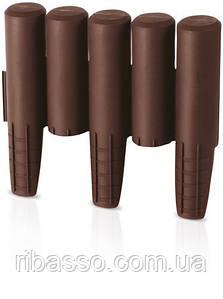Комплект садовой ограды PALISADA - коричневый, 2,7 м