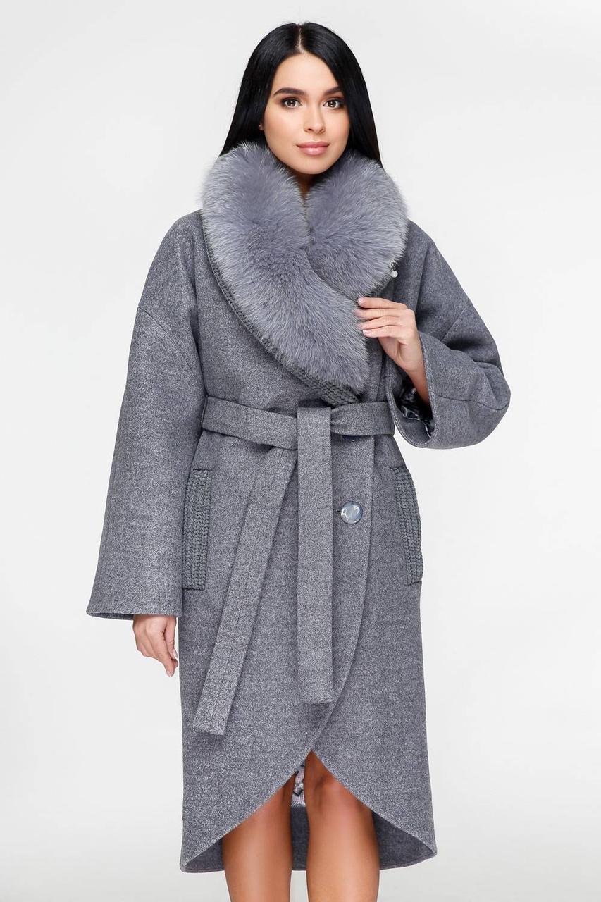 Шикарное зимнее кашемировое пальто с натуральным мехом с 44 по 54 размер 768777dfd66c4