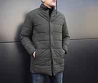 "Мужская зимняя куртка Pobedov ""Кorol' vechera"" цвета хаки"