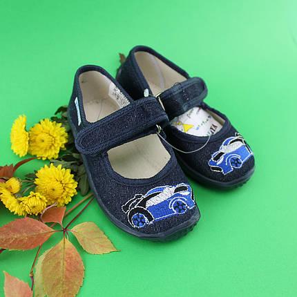 Тапочки для садика мальчику текстильная обувь тм Виталия Украина размер 23, фото 2