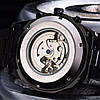 Мужские Механические Часы с автоподзаводом WINNER Skeleton Siver, Black, Gold - Фото
