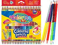 Карандаши цветные двухсторонние Colorino 24 шт 48 цветов (51705PTR) (5907690851705)