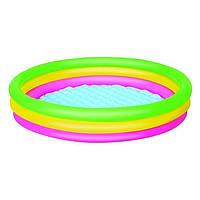 Детский надувной бассейн BestWay 51103, 152 х 30 см надувное дно , фото 1