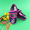 Тапочки для девочки в садик текстильная обувь Vitaliya Виталия Украина, размеры 28,28.5,30,31, фото 2