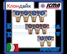 Icma Коллектор с отсекающими кранами 3/4*1/2 4 выхода
