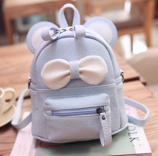 Рюкзак сумка женский трансформер Mikki Голубой