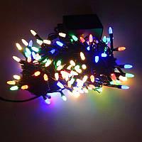 Гирлянда Нить Семечка Перламутр LED 300 мульти, чёрный провод (1-47)