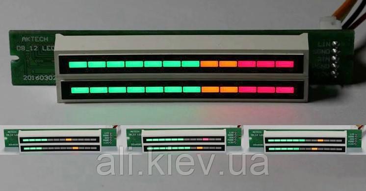 DIY Индикатор уровня сигнала для усилителя стерео модуль 12 сегментов *2 канала
