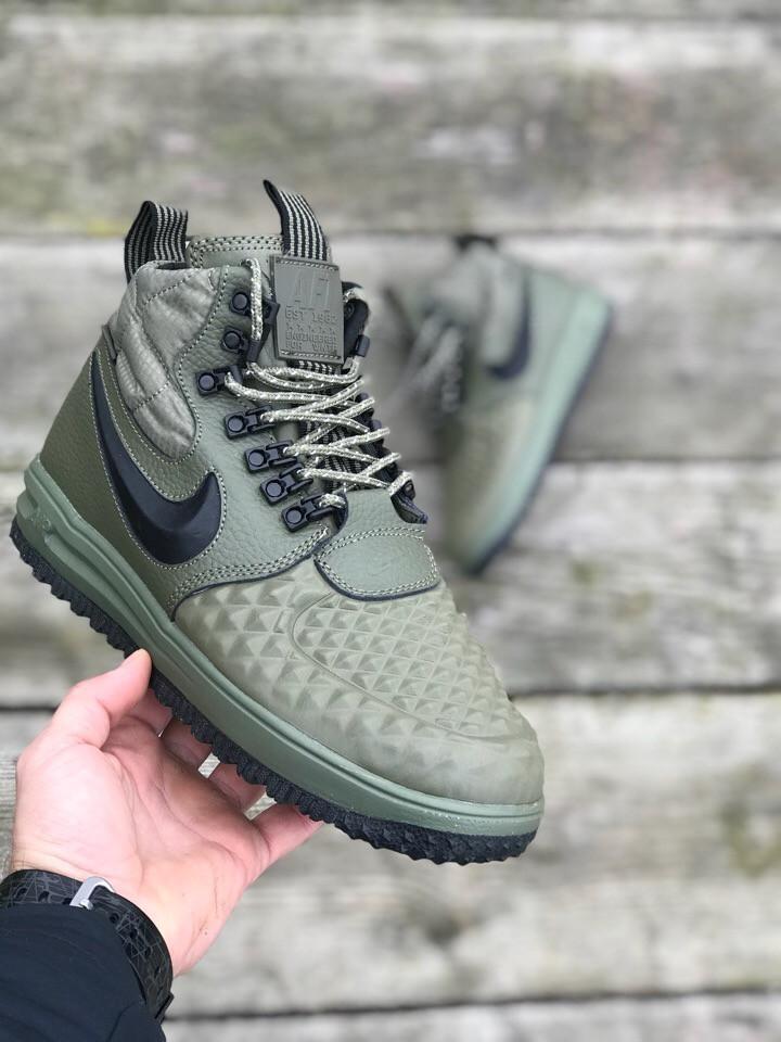 0b7ac737 Мужские кроссовки в стиле Nike Lunar Force 1 Duckboot 17 (green), Реплика  ААА