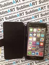Чехол-книжка для 2D сублимации кожанный на Iphone 6 черный, фото 3