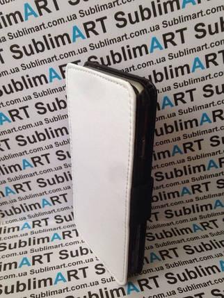 Чехол-книжка для 2D сублимации кожанный на Iphone 6 черный, фото 2