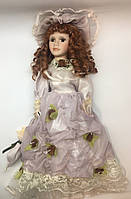 Фарфоровая Кукла сувенирная в старинном платье, коллекционная, 45 см 03-10