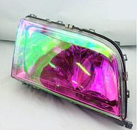 Тонировочная пленка хамелеон 100 х 30 см (Фиолетовая). Автомобильная виниловая плёнка на фары