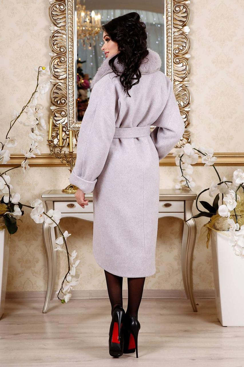 Купить Зимнее кашемировое пальто с натуральным мехом 44 f02dd8ef1693b