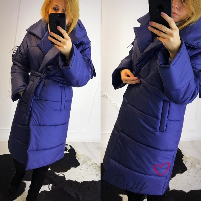Удлиненная женская куртка пальто плащевая 5601160