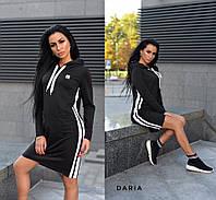 Спортивное платье худи с капюшоном и лампасами 55032028, фото 1
