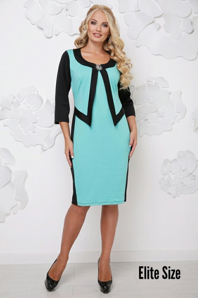 04da7b3d8ac2b77 Купить Платье-футляр в больших размерах из трикотажа 6151138 ...
