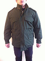 Куртка зимняя камуфляжная на утепленной подкладке М-65 зеленая