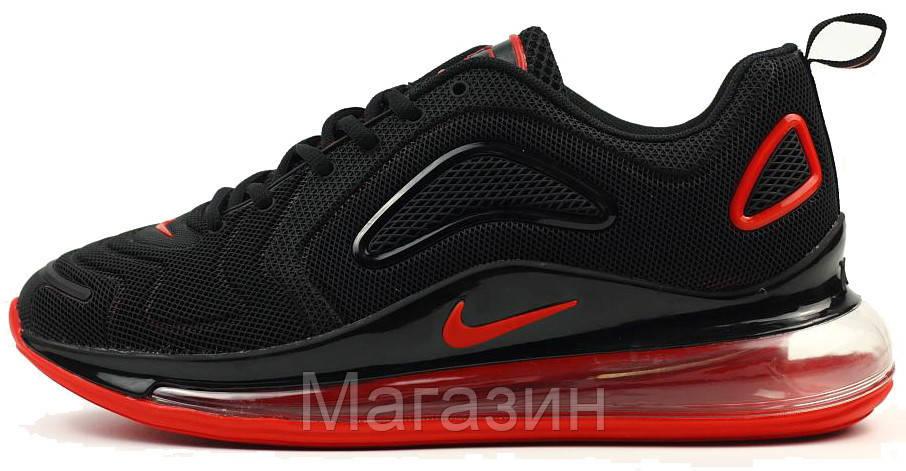 d86868e4 Мужские кроссовки Nike Air Max 720 Black Найк Аир Макс 720 черные с красным  - Магазин
