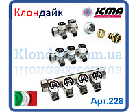 Icma Коллектор 3/4 с отсекающими кранами в комплекте с наконечником 24*1,5  на 4 выхода