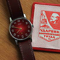 ЗИМ советские механические часы СССР , фото 1