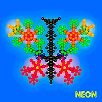 Набор ХочуКонструктор шестилистник 200 NEON светящийся