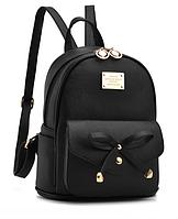 Рюкзак женский молодежный городской Agness Черный, фото 1